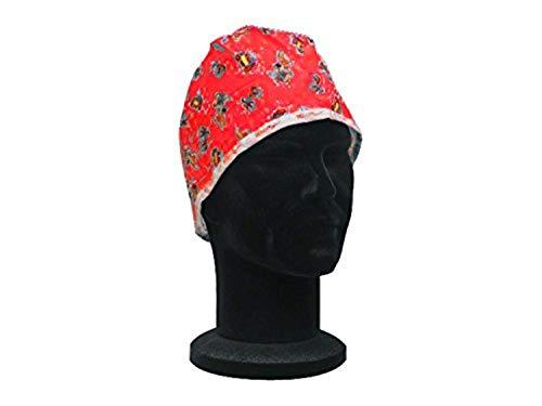 GIMA CAPPELLINO FANTASIA - rosso - Cappellino chirurgico in puro cotone di colore rosso con disegni fantasia.