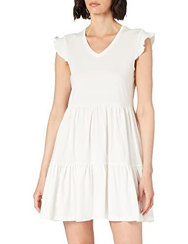 Only Onlmay Life Cap Sleeves Frill Dress Jrs Vestido, Cloud Dancer, S para Mujer
