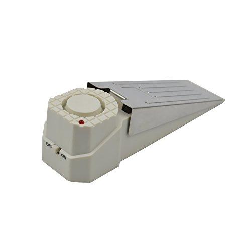 [1 Stück ] Weiß Alarmtürstopper Alarm Stopper Türstopper Schlafzimmer Stopper Türalarm Einbruchschutz 120dB Sirenen Türakte mit Batterie