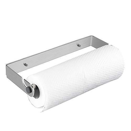 OIZEN Küchenrollenhalter ohne Bohren/Wandmontage, Küchenpapierhalter Wandmontage Papierrollenhalter Aufbewahrung Organisator 304 Edelstahl Gebürstet, 30.5cm