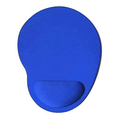 GGHHJ Comodidad Pequeño Forma de pies Mouse Pad Support Sportmat Soild Color Juegos de computadora Mousepad Creativo Soft Mouse Pad Brazals (Color : Blue)