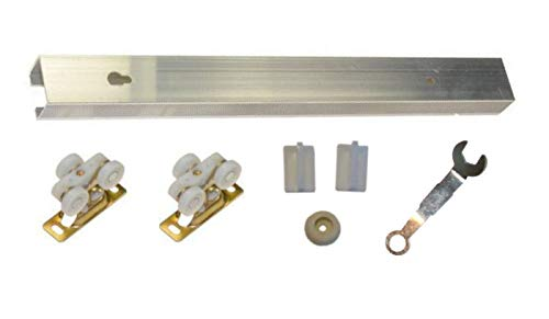Series 4- Light Duty Pocket Door Track and Hardware Kit- for Doors up to 80 Pounds (36 inch Door- Track Size- 72 inch)