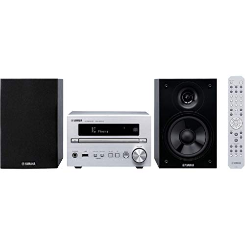 YAMAHA - Microcadena Mcr-B270D, Panel Frontal Aluminio, Bluetooth, Sintonizador Dab, Dab+, FM, Plata