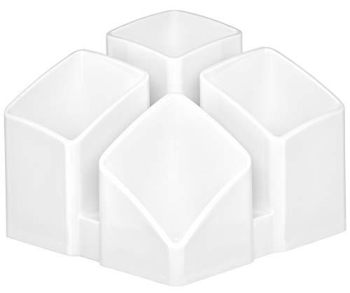 HAN Schreibtischköcher SCALA 17450-12 in Weiß / Praktisches Schreibtisch Ordnungssystem für Büro Zubehör / Tisch-Organizer mit 4 Fächern