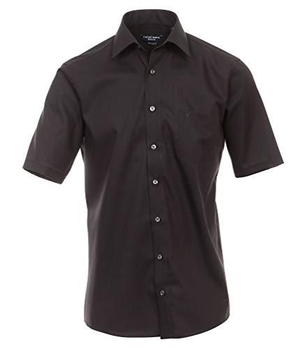 CASA Moda – Comfort Fit – Chemise Business à Manches Courtes pour Homme de Repassage Couleurs Différentes (008070) - Noir - 49