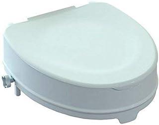 WC elevado, sistema de elevación anatómica con sistema de fijación lateral (con tapa, altura 10 cm)
