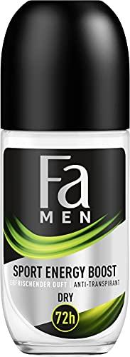 Fa Men Anti-Transpirant Deo Roll-On Sport Energy Boost mit erfrischendem Duft, 72h Schutz, 50 ml