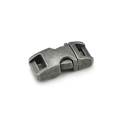 """Fermoir à clip en métal, idéal pour les paracordes (bracelet, collier pour chien, etc), boucle, attache à clipser, grandeur: S, 3/8"""", 33mm x 15mm, couleur: imitation pierre, de la marque Ganzoo - lot de 10 fermoirs"""