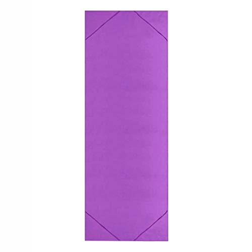 LRL Accesorios de Fitness de Yoga Toalla de Yoga - 1pc Microfibra Toalla de Yoga Toalla de Yoga Antideslizante Afinado de Sudor Aptitud Pilates Pad Funda Gimnasio Ejercicio Camping (Color : Purple)