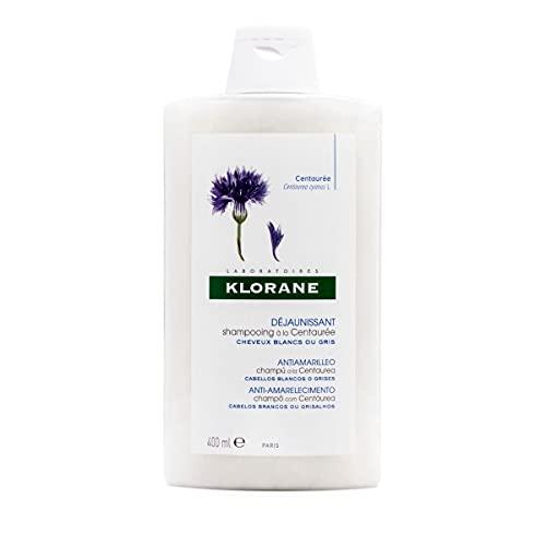 Klorane Champú Centaurea | Para Cabellos S Y Grises, Blanco, 400 Mililitro