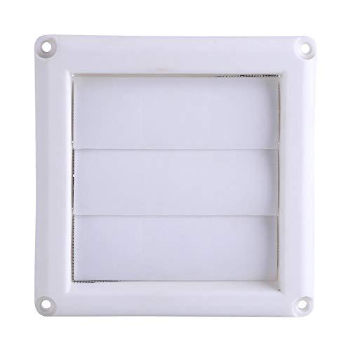 GOTOTOP Ventilaciones de Pared, deflectores, Cubierta de persianas de plástico, 3 Rejillas para Mantener la circulación del Aire Interior y Exterior(7.87 x 7.87 Pulgadas)