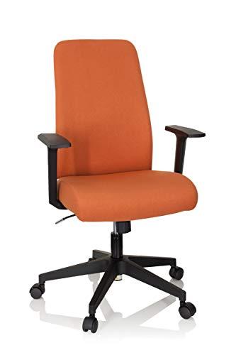 hjh OFFICE 750021 Bürostuhl COSIO Stoffbezug Orange Drehstuhl gepolstert, ergonomische Rückenlehne, Wippfunktion
