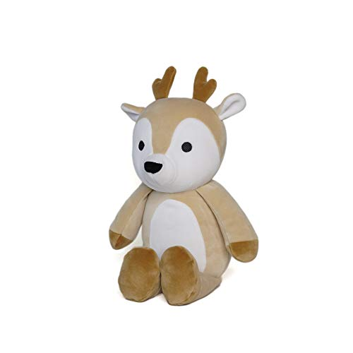Avocatt Brown Huggable Deer Plush - 10 Inches Stuffed Animal Plushie - Hug and Cuddle with Squishy Soft Fabric and Stuffing - Cute Toy Gift for Boys and Girls