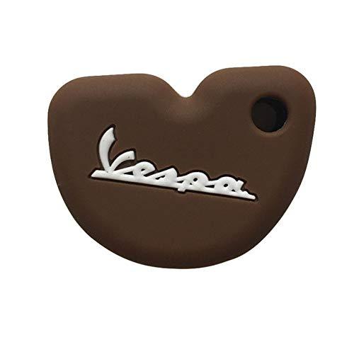 Funda para llave de coche, carcasa para llave de coche, compatible con Vespa Piaggio Sprint Gts Enrico GTS300 946 LX150 Fly125 3vte cubierta para llave de motocicleta, color marrón