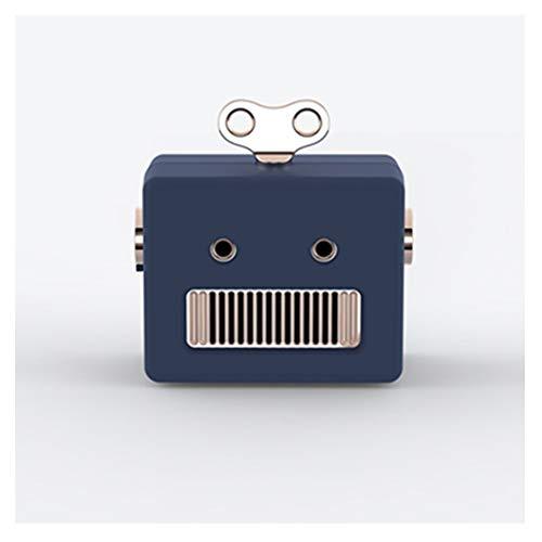 Portable Robot Bluetooth Speaker, stijlvolle, draadloze Bluetooth Speaker voor de Partij van het Huis Cafe Bar Compatible (Blauw Wit Roze),Blue