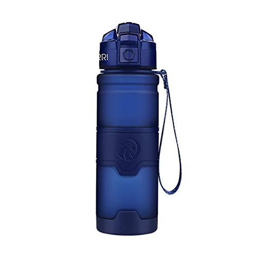 Bruce Dillon Dark Blue Sports Bottle Best Reusable Protein Shaker Water Bottle Hiking Bike Fitness Bottle - 1000ml,drak Blue