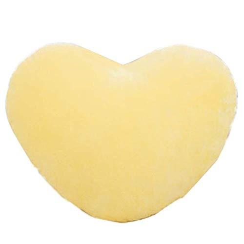 LAMEIDA. Peluches de Peluche con Forma de corazón Cojines de Peluche de Juguete para un Amigo (Amarillo)