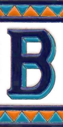 Hausnummern, Hausbuchstaben, handbemalte Keramiknummern und Buchstaben, echtes spanisches Schild (B)