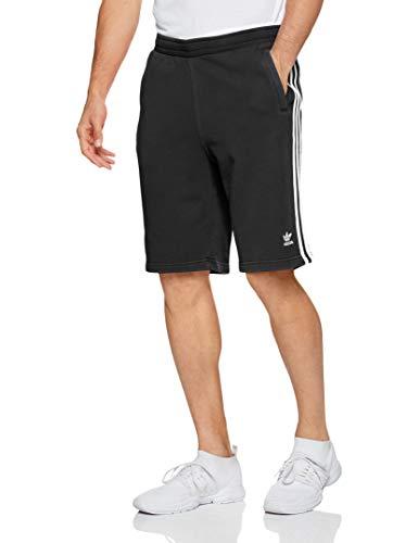 adidas 3-Stripe Short Sport Shorts, Hombre, Black, M