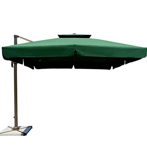 QIAOH Sombrilla Parasol Excentrico, Sombrilla para Terraza Exterior, Sombrilla Playa Antiviento, Inclinable, Protección Solar, 300x300cm, Beige, para Terraza Jardín Playa Balcón