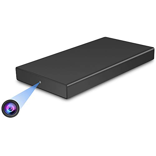 Mini Kamera, OMOUP 10000mAhPowerbank mitKamera Bewegungserkennung Nachtsicht und Schwerkraft Erkennungsfunktion Kleine Überwachungskamera 32GB