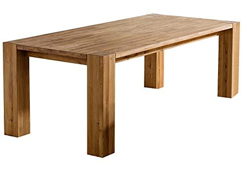 Table à Manger 160x90cm - Bois Massif de Chêne Sauvage huilé - Berlin