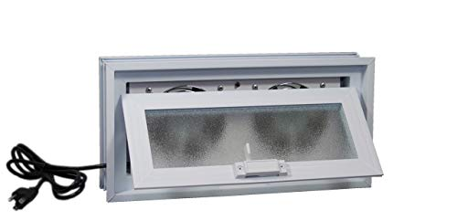 Crawl Space Power Vent (White) - for 16'W x 8'H Foundation Openings