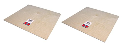 Plywood Sheet - 12' X 12' X 1/8' (2 Pack)
