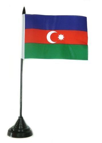 Tischflagge Aserbaidschan Flagge Fahne 10 x 15 cm FLAGGENMAE® Tischfahne