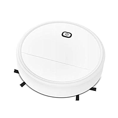OTTOPT LS23+ Robot Vacuum, Strong Suction, Quiet, Super-Thin Smart Robotic Vacuum Cleaner, Used to Clean Pet Hair, Hard Floors (White)