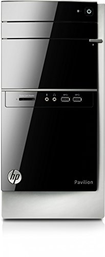 HP 500-419ng K2D02EA#ABD Desktop-PC (AMD Intel-Core i5-4460S, 3,4GHz, 12GB RAM, 1TB HDD, AMD Radeon R7 240, DVD-Brenner, Win 8.1) schwarz/silber