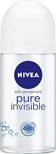 NIVEA Pure Invisible Roll On Anti-Perspirant Deodorant, 50ml