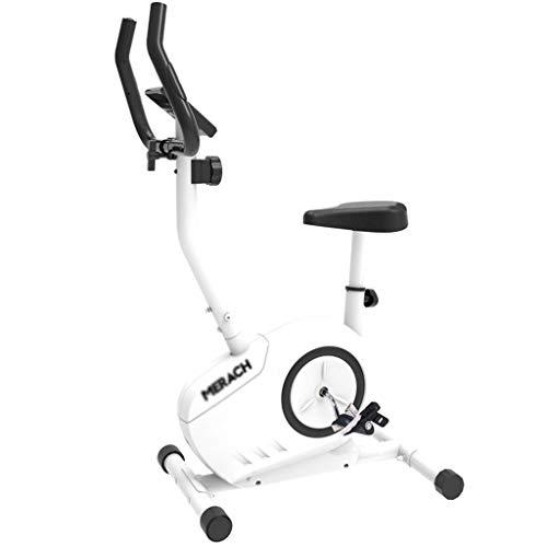 Cyclette sportiva da casa,Bicicletta da spinning ultra-silenziosa a controllo magnetico Esercizio indoor Macchina per la perdita di peso Attrezzatura da palestra,Bianco,50 60 130cm Allenamento per all