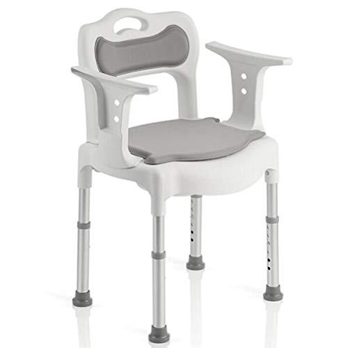 LQ&XL Toilettenstuhl Höhenverstellbarer Aluminium-transportstuhl Dusch-wc Mit Abnehmbarer Halterung Medizin