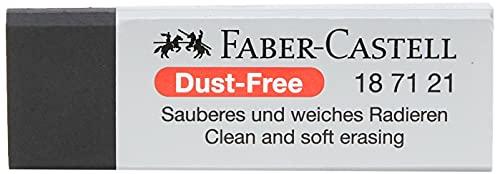 Faber-Castell 187121 Gomme Dust-Free, plastique, noir
