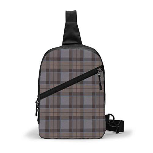 GIERTER Fraser Hunting Tartan Plaid Outlander Large Chest Package Multipurpose Crossbody Outdoor Shoulder Bag Daypack Sling Backpack Large Capacity Casual Sport Rucksack for Hiking Travel Sport