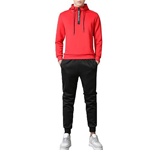 Cardith Männer Herbst Sweatshirt Top Hosen Sets Sport Anzug Trainingsanzug Herren Jogginganzug für Männer Sportanzug Freizeitanzug Jogginghose + Zip Sweatshirt Oberteil
