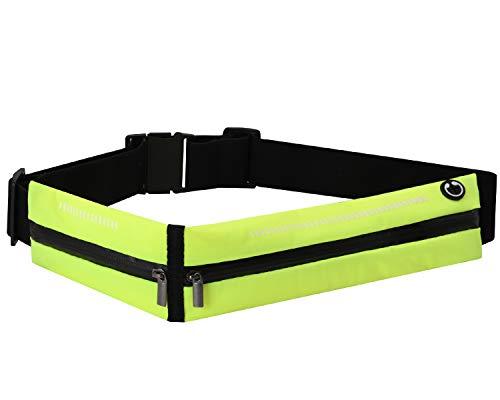 "HRainbow Marsupio Sportivo Impermeabile Marsupio Running Uomo Donna Cintura da Corsa per Telefono 6.5"" iPhone 11 PRO Samsung Huawei Jogging Viaggio Trekking Bicicletta (Verde)"