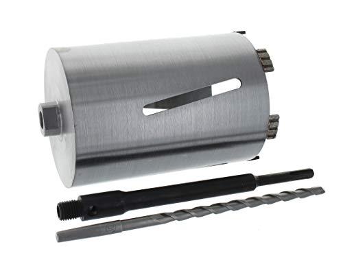 Diamant Bohrkrone SDS-plus lang (200mm) Aufnahme und Zentrierbohrer Nutzlänge 180 mm Ø 102 mm Betonbohrkrone Kernbohrer