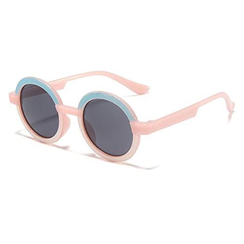 WQZYY&ASDCD Gafas de Sol Gafas De Sol Redondas Gafas De Sol Marco De Plástico Sombra Gafas De Moda-Rosa