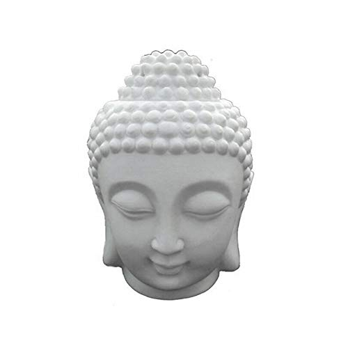 Vvciic Weihrauchhalter (weiß), Buddha Ornament Zen Garden Kerzenhalter Buddha Kopf Kerzenhalter für Home Yoga Studio