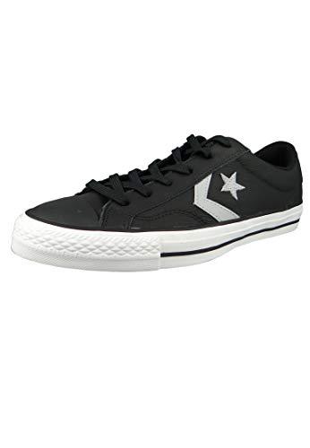 Converse Unisex-Erwachsene Lifestyle Star Player Ox Sneakers, Schwarz (Black/Wolf Grey/White 001), 46.5 EU