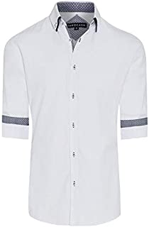 Tarocash Men's Archie Textured Shirt Cotton Blend Regular Fit Long Sleeve Sizes XS-5XL for Going Out Smart Occasionwear