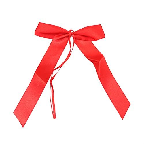 Fête DIY Décorations 50pcs bowknots ruban délicat de mariage pied décoration décoration noeuds nœuds de nœuds de ruban bivres de fête voitures chaises décoration bowknots décorations ( Color : Red )