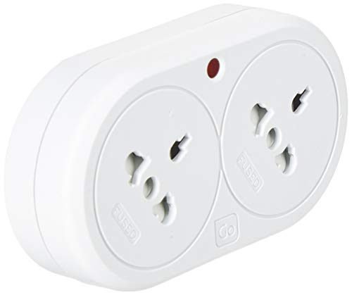 Go Travel UK Visitor Duo Type G (Royaume-Uni) Type K (DK) Blanc Adaptateur Prise d'alimentation - Adaptateurs Prises d'alimentation (107 mm, 58,4 mm, 56 mm, 105 g)