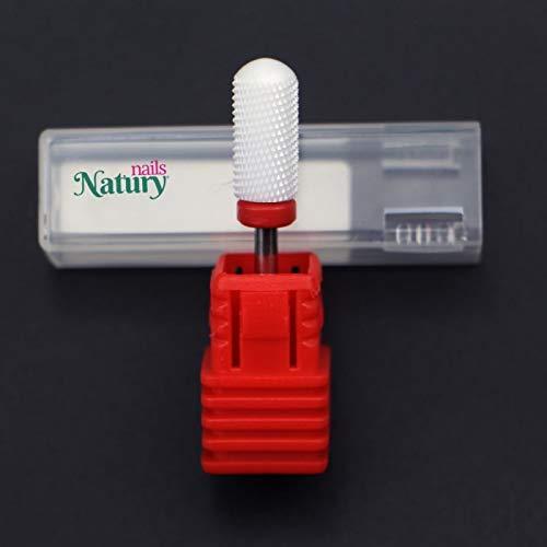 Natury Nails Fresa de Cerámica para Torno de uñas. Manicura, Pedicura, Esmaltes, Uñas Acrílicas y Uñas de Gel. Lima para Torno (GRANO FINO)