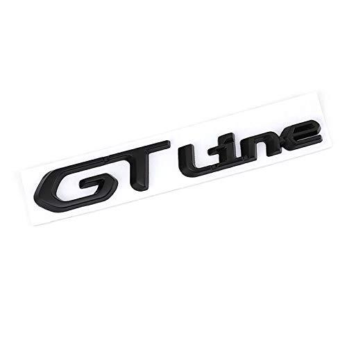 ZKL shop Auto Embleme GT Line Auto Aufkleber für Kia Peugeot 508 3008 208 308 5008 T9 GT Line Renault Clio Grandtour Megane Forte Optima Picanto Styling Embleme (Color Name : GT line Sticker)