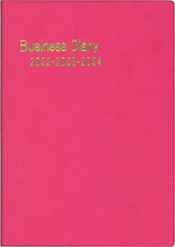博文館 手帳 2022年 A5 3年連用ビジネスダイアリー ラズベリー No.251 (2022年 1月始まり)