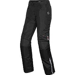 DXR Motorradhose Tour Textilhose 5.0, Motorradhose Herren, wasserdicht, Winddicht, atmungsaktiv, Thermofutter, weitenverstellbarer Bund, Schwarz, M