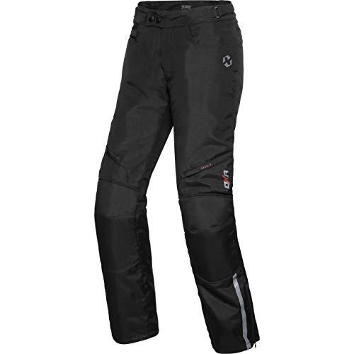 DXR Motorradhose Tour Textilhose 5.0, Motorradhose Herren, wasserdicht, Winddicht, atmungsaktiv, Thermofutter, weitenverstellbarer Bund, Schwarz, L